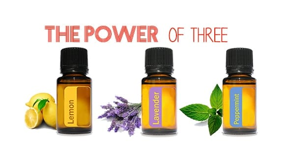 Peppermint, Lemon, and Lavender Essential Oils