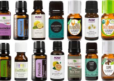 Top Most Popular Essential Oils